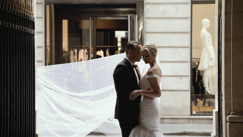 wedding film in paris bridgette jovicas